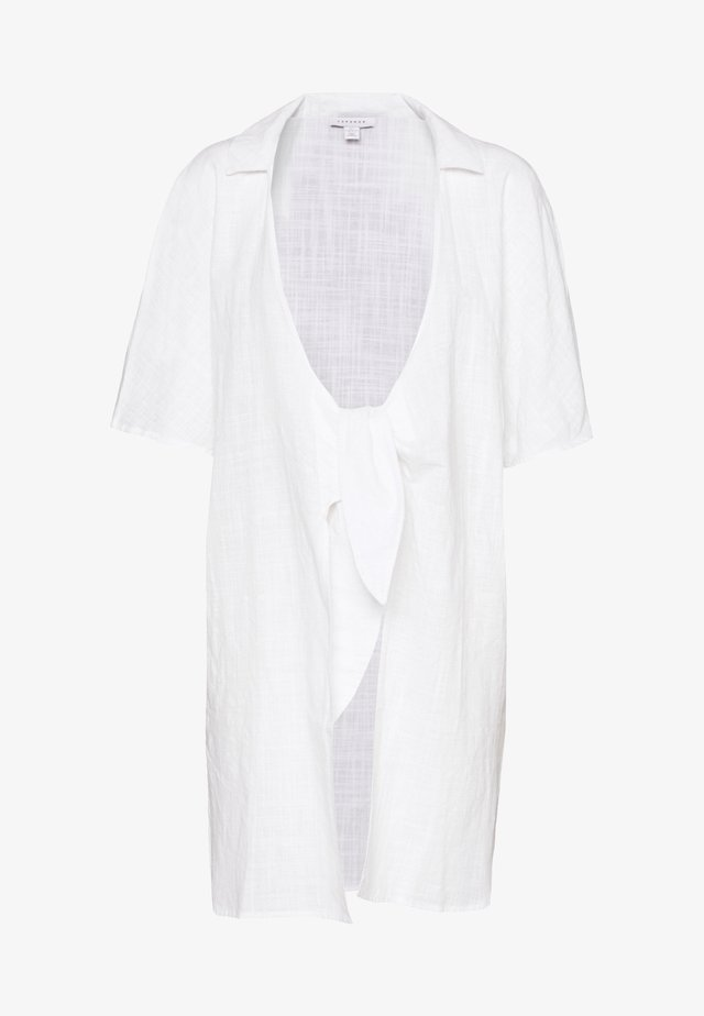 TIE FRONT KAFTAN BEACH SHIRT - Beach accessory - white