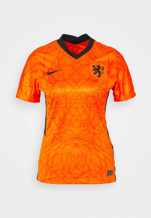 NIEDERLANDE KNVB HM - Print T-shirt - safety orange/black