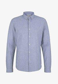 TOM TAILOR DENIM - Shirt - navy white small stripe - 4