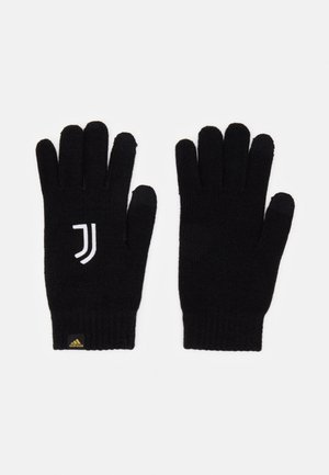 JUVENTUS SPORTS FOOTBALL GLOVES UNISEX - Gloves - black/white/pyrite