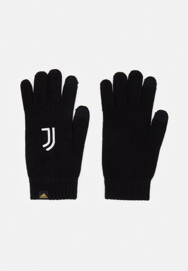 JUVENTUS SPORTS FOOTBALL GLOVES UNISEX - Fanartikel - black/white/pyrite