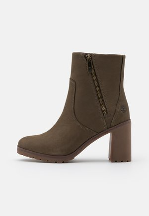 ALLINGTON BOOTIE - High heeled ankle boots - olive