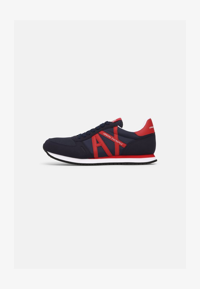 RETRO RUNNER - Sneakers laag - indigo/red