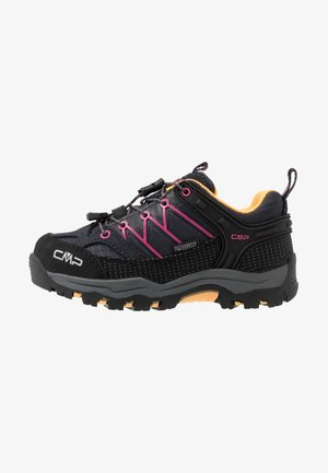 KIDS RIGEL LOW SHOE WP UNISEX - Hiking shoes - antracite/bounganville