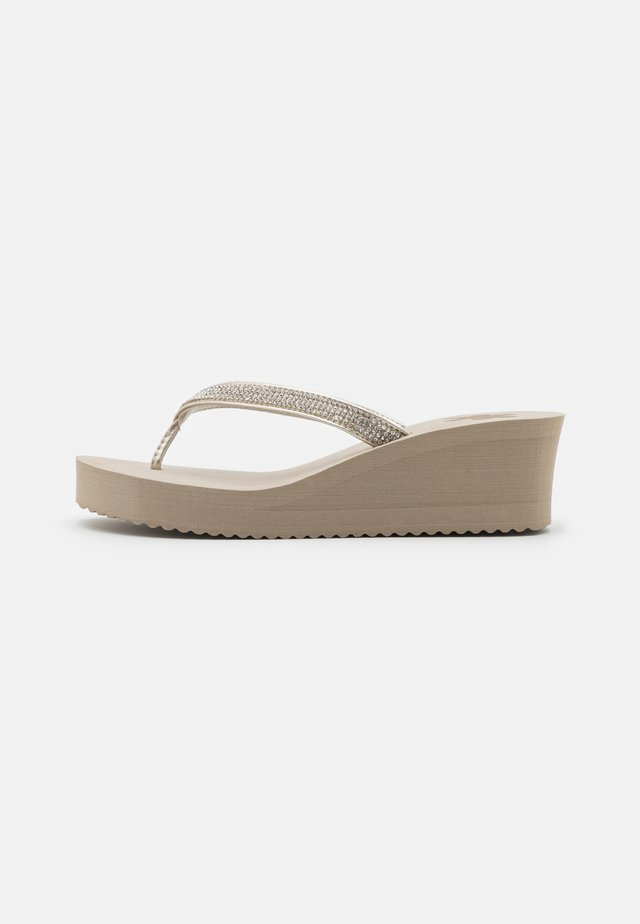 GLAM HI - T-bar sandals - taupe