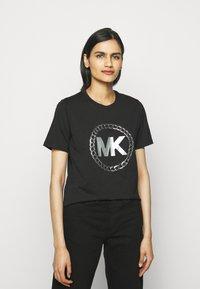 MICHAEL Michael Kors - CHAIN LOGO - Print T-shirt - black/silver - 0