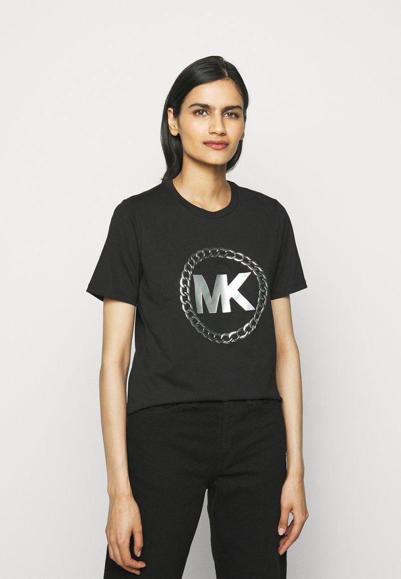 MICHAEL Michael Kors - CHAIN LOGO - Print T-shirt - black/silver