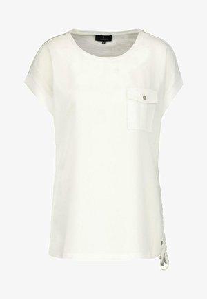MIT AUFGESETZTER TASCHE - T-shirt basic - white