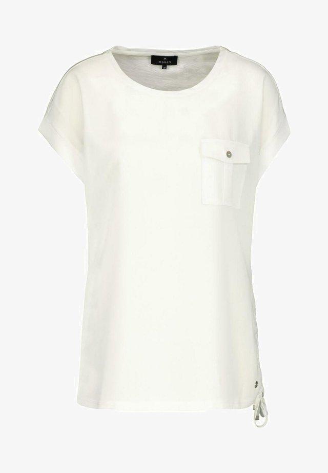 MIT AUFGESETZTER TASCHE - Basic T-shirt - white