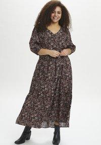 Kaffe Curve - KCOLANDA  - Maxi dress - black, apple butter flower - 0