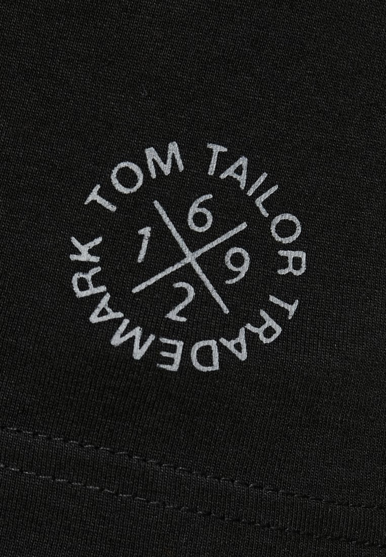 Tom Tailor Double Pack Crew Neck Tee - T-shirts Black/svart