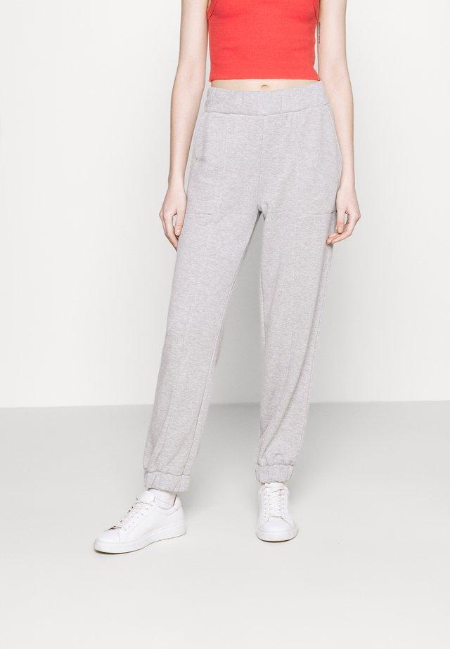 PCCOOLIO PANTS - Spodnie treningowe - light grey melange
