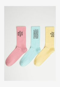 Bershka - 3 PACK - Ponožky - yellow - 2