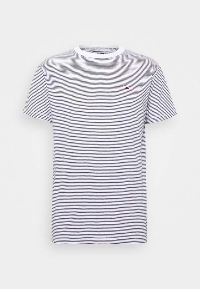 BASIC STRIPE TEE - Print T-shirt - white/twilight navy