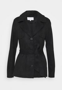 Vila - VIJAKY SHORT TRENCH COAT - Summer jacket - black - 0