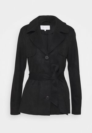 VIJAKY SHORT TRENCH COAT - Summer jacket - black