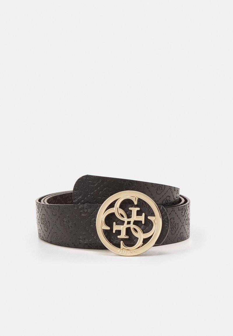 Guess - JENSEN PANT BELT - Belt - brown/black