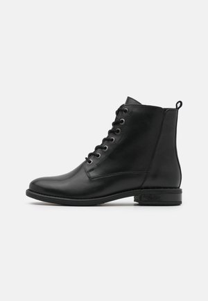 LEATHER - Veterboots - black