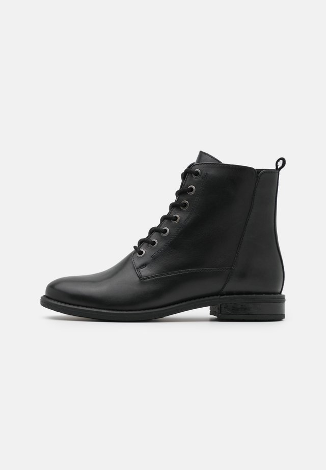LEATHER - Veterboots - black