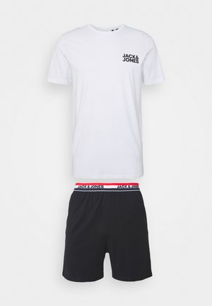 JACLOUNGE SHORT SET - Pyjama set - black/white