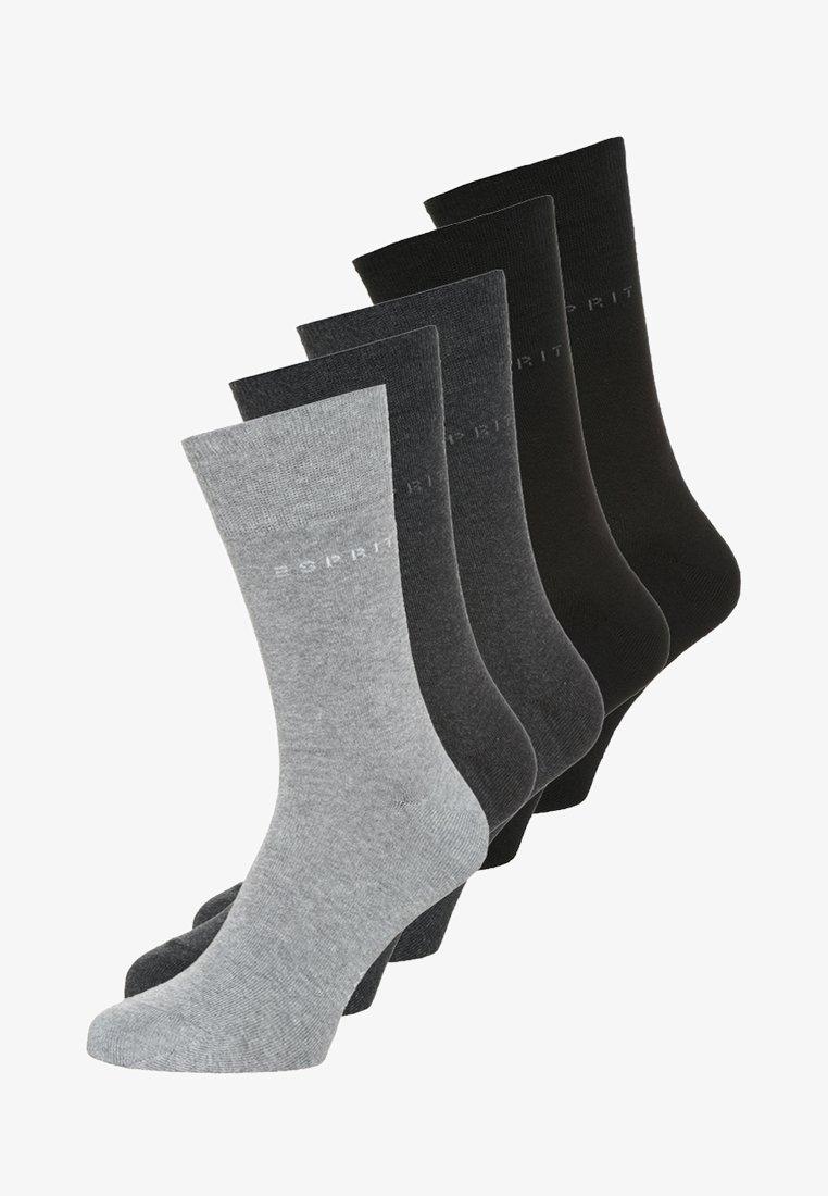 Esprit - 5 PACK - Strumpor - black