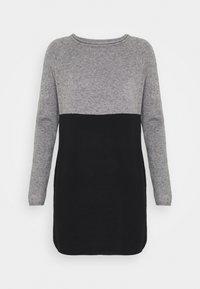 ONLY - Stickad klänning - medium grey melange/black - 4