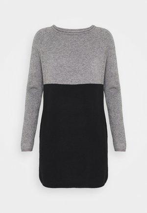 Pletené šaty - medium grey melange/black