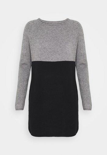 Jumper dress - medium grey melange/black