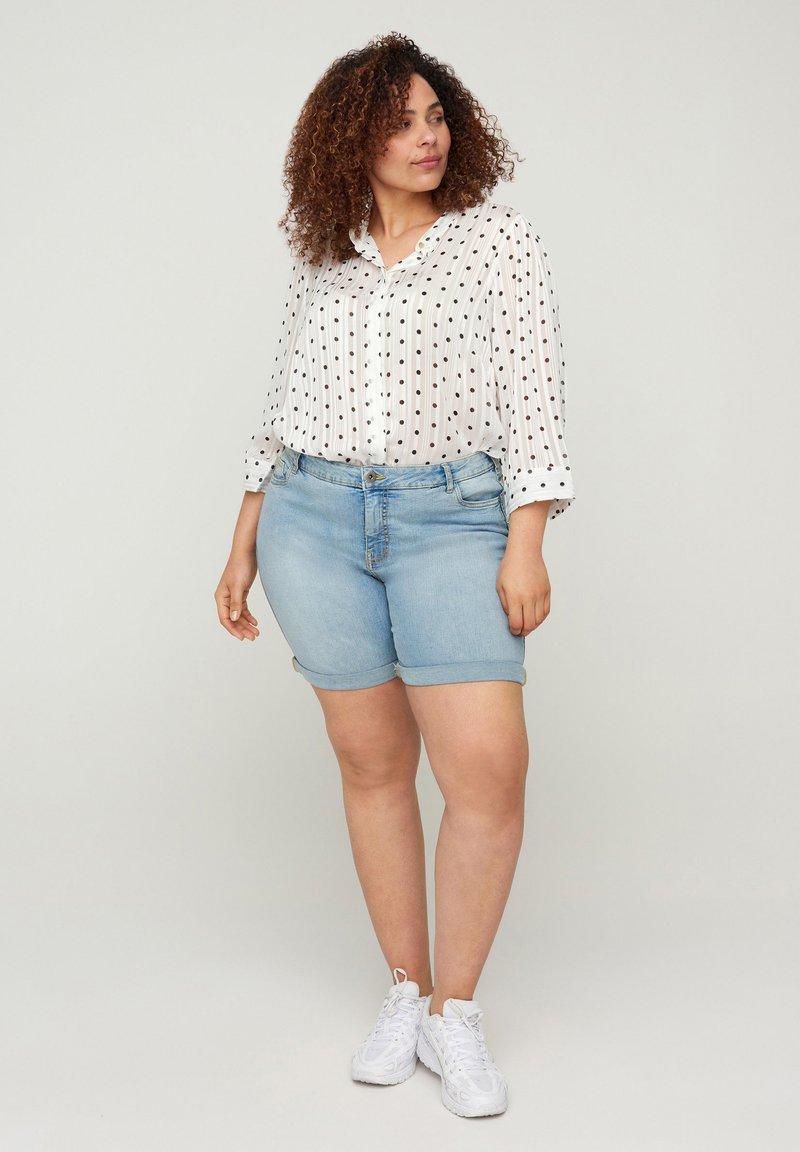 Zizzi - Button-down blouse - white