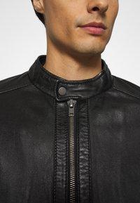 Oakwood - FREDERIC - Kožená bunda - noir - 5