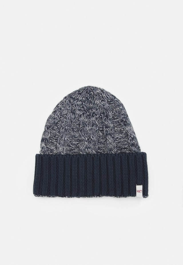 CABLE BEANIE - Bonnet - grey/blue