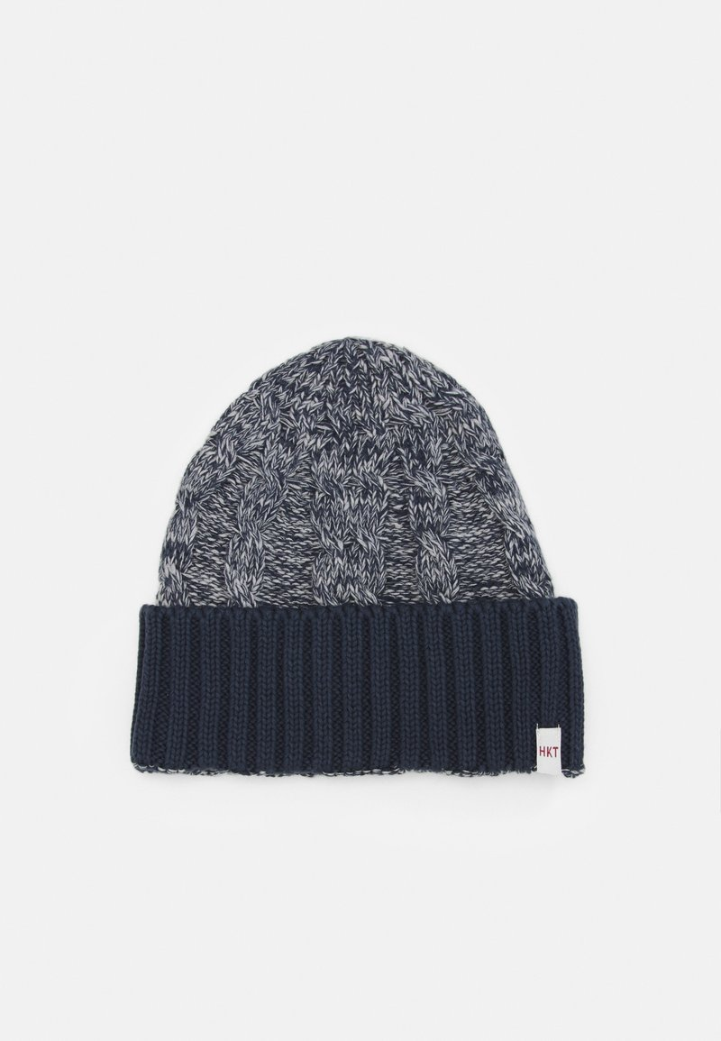 HKT by Hackett - CABLE BEANIE - Berretto - grey/blue