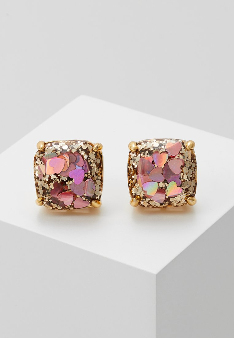 kate spade new york - EARRINGS GLITTER SMALL SQUARE STUDS - Earrings - blush/multi