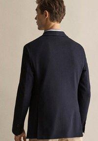 Massimo Dutti - MIT STRUKTURMUSTER  - Blazer jacket - dark blue - 1