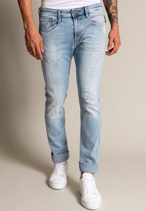 ANBASS - Straight leg jeans - hellblau