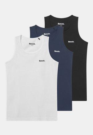 NAMDOR 3 PACK - Undershirt - black/white/navy