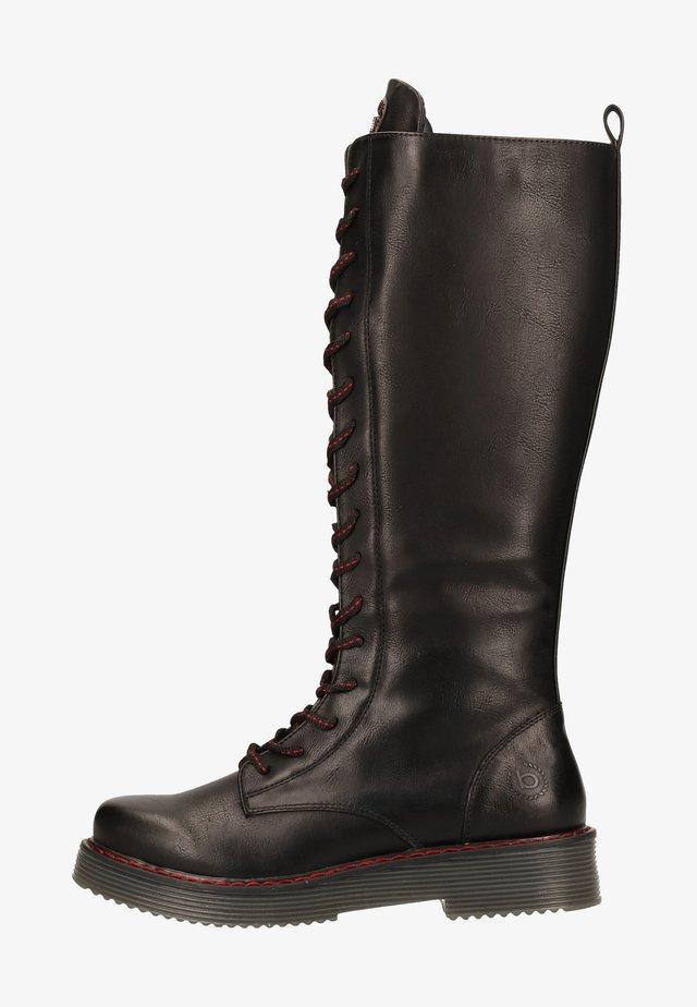 Botas con cordones - schwarz 1000