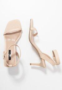 Miss Selfridge - SHAKIRA LOW STILETTO - Sandals - nude - 3