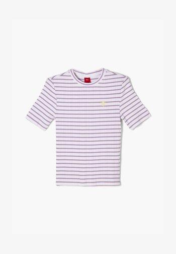 T-shirt imprimé - lilac stripes