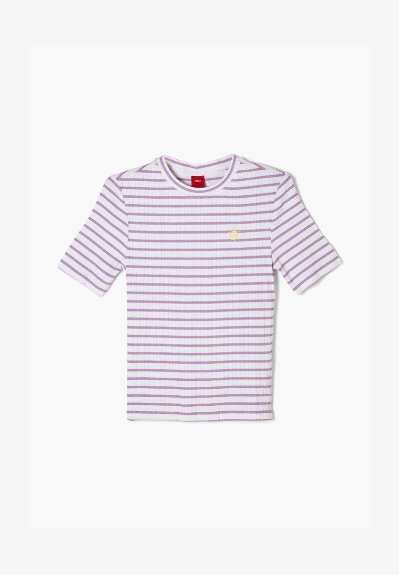 s.Oliver - Print T-shirt - lilac stripes