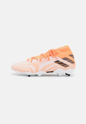 NEMEZIZ 3 FG - Moulded stud football boots - footwear white/core black/screaming orange