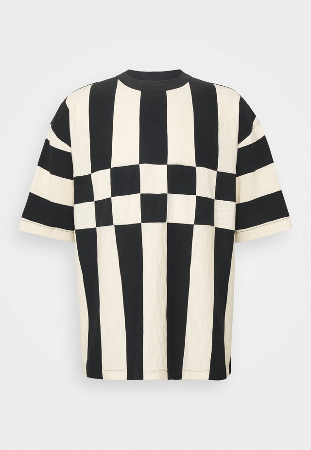 HACIENDA TEE - T-Shirt print - black/ecru