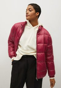 Violeta by Mango - MIT SEITLICHEN ZIPPERN - Winter jacket - fuchsia - 0