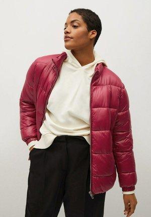 MIT SEITLICHEN ZIPPERN - Winter jacket - fuchsia