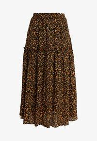 JUST FEMALE - FIJI SKIRT - Maxi skirt - black/yellow - 3