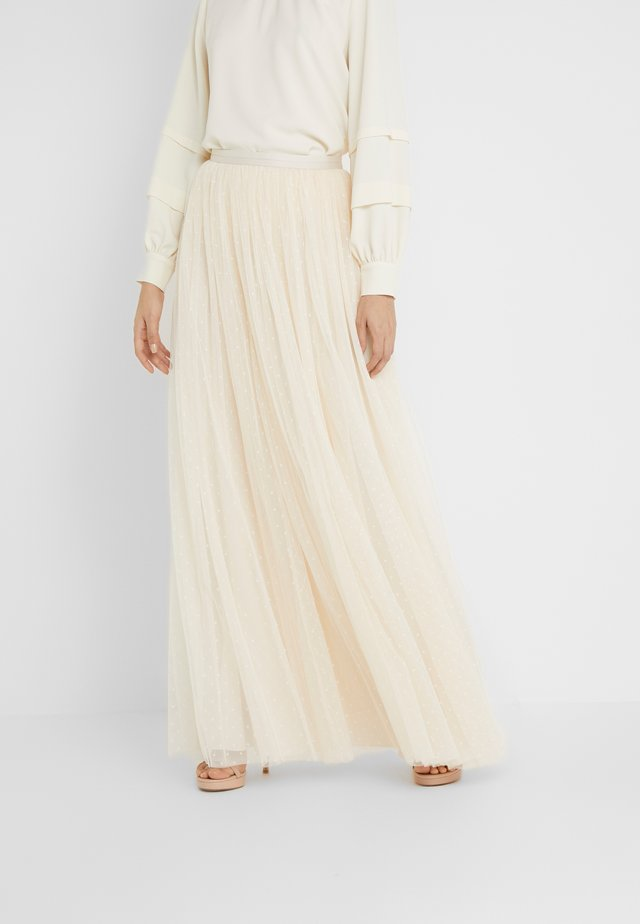 KISSES MAXI SKIRT - Gonna lunga - champagne