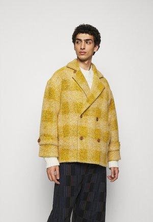 PLUMBER JACKET - Classic coat - beige/yellow