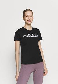 adidas Performance - T-shirts med print - black/white - 0