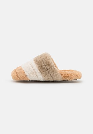 QUILTED SCUFF COLORBLOCK - Muiltjes - light sand/multi-coloured