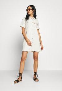 Vila - VIGLOVE DRESS - Denim dress - whisper white - 1